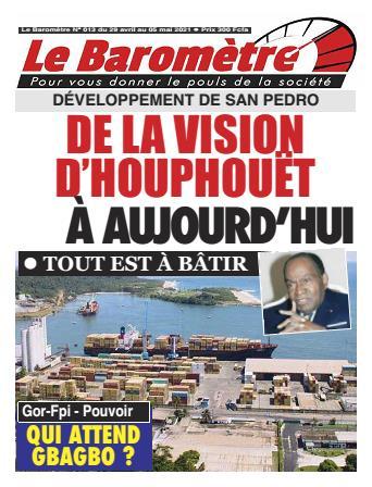 Couverture du Journal LE BAROMETRE N° 13 du 29/04/2021