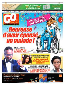 Couverture du Journal GO MAGAZINE N° 863 du 08/04/2021
