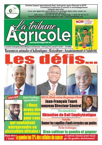 Couverture du Journal La Tribune Agricole N° 20 du 16/04/2021
