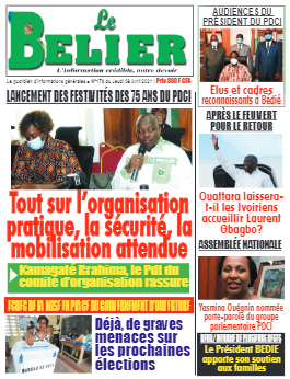 Couverture du Journal LE BELIER N° 170 du 08/04/2021