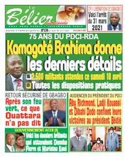 Couverture du Journal LE BÉLIER INTRÉPIDE N° 534 du 08/04/2021