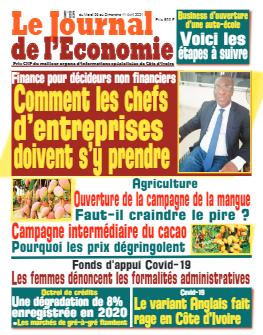 Couverture du Journal LE JOURNAL DE L'ÉCONOMIE N° 615 du 06/04/2021