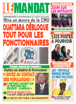 Couverture du Journal LE MANDAT N° 3097 du 08/04/2021