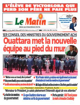 Couverture du Journal LE MATIN N° 511 du 08/04/2021