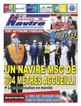 Couverture du Journal LE NOUVEAU NAVIRE N° 688 du 07/04/2021