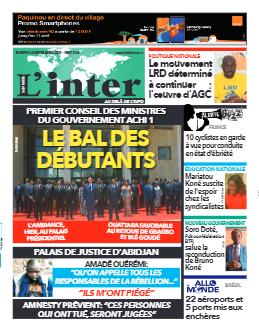 Couverture du Journal L'INTER N° 6829 du 08/04/2021