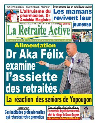 Couverture du Journal LA RETRAITE ACTIVE N° 63 du 30/04/2021