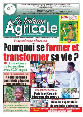 Couverture du Journal La Tribune Agricole N° 22 du 30/04/2021