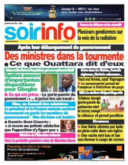 Couverture du Journal SOIR INFO N° 7939 du 08/04/2021