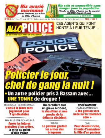Couverture du Journal ALLO POLICE N° 486 du 13/05/2019