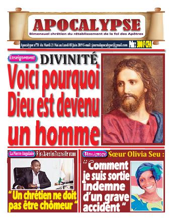 Couverture du Journal APOCALYSE N° 78 du 21/05/2019