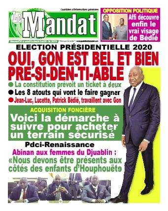 Couverture du Journal LE MANDAT N° 2617 du 10/05/2019