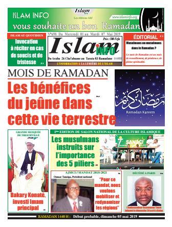 Couverture du Journal ISLAM INFO N° 698 du 02/05/2019