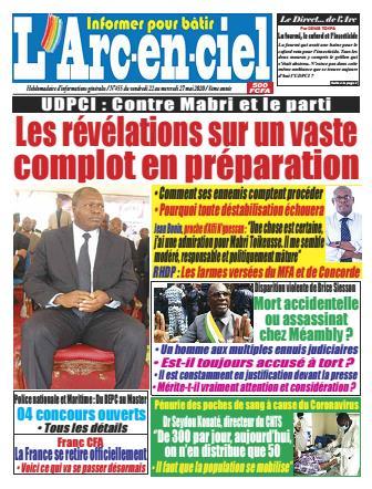 Couverture du Journal ARC EN CIEL N° 455 du 22/05/2020