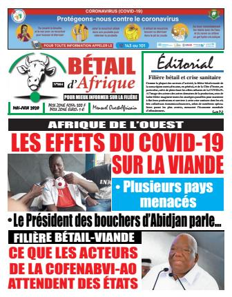 Couverture du Journal BÉTAIL D'AFRIQUE N° 4 du 25/05/2020