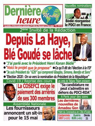Couverture du Journal DERNIERE HEURE N° 40 du 13/05/2020