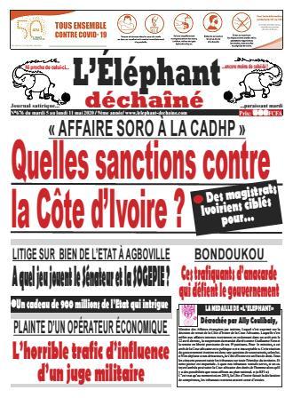 Couverture du Journal L'ÉLÉPHANT DÉCHAINÉ N° 676 du 05/05/2020