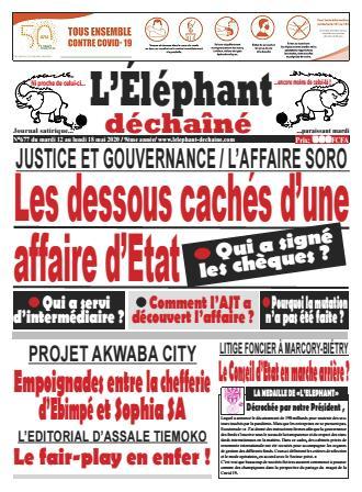 Couverture du Journal L'ÉLÉPHANT DÉCHAINÉ N° 677 du 12/05/2020