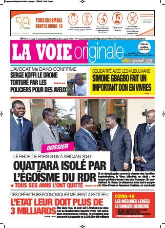 Couverture du Journal LA VOIE ORIGINALE N° 451 du 18/05/2020