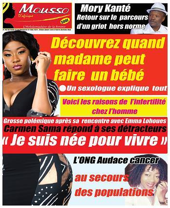 Couverture du Journal MOUSSO D'AFRIQUE N° 794 du 26/05/2020
