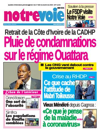 Couverture du Journal NOTRE VOIE N° 6362 du 05/05/2020