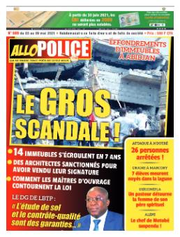 Couverture du Journal ALLO POLICE N° 589 du 03/05/2021