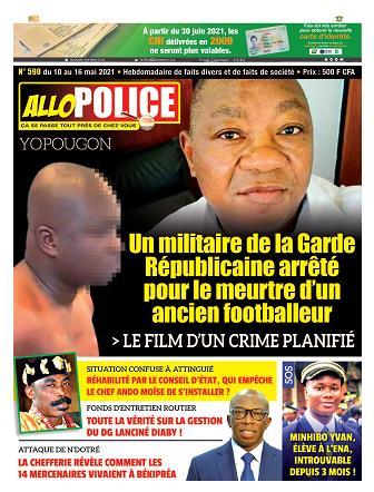 Couverture du Journal ALLO POLICE N° 590 du 09/05/2021
