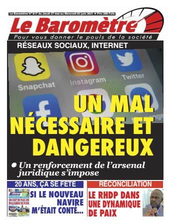 Couverture du Journal LE BAROMETRE N° 17 du 27/05/2021