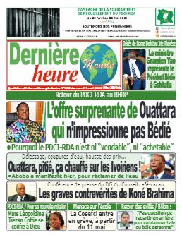 Couverture du Journal DERNIERE HEURE N° 285 du 04/05/2021