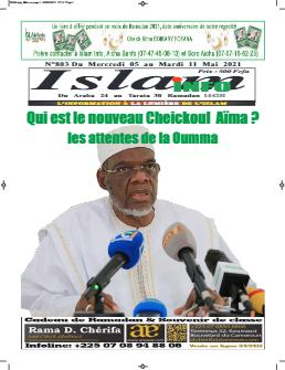 Couverture du Journal ISLAM INFO N° 803 du 06/05/2021