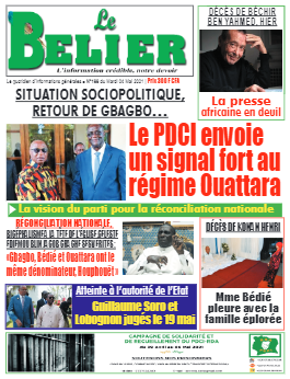 Couverture du Journal LE BELIER N° 189 du 04/05/2021
