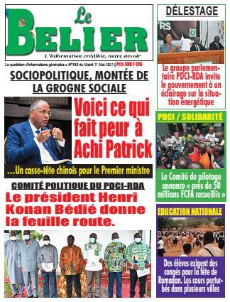Couverture du Journal LE BELIER N° 194 du 11/05/2021