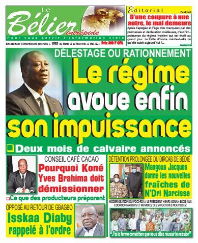 Couverture du Journal LE BÉLIER INTRÉPIDE N° 557 du 11/05/2021