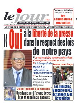 Couverture du Journal LE JOUR PLUS N° 4596 du 04/05/2021