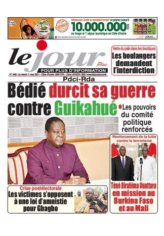 Couverture du Journal LE JOUR PLUS N° 4602 du 11/05/2021
