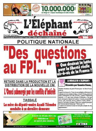 Couverture du Journal L'ÉLÉPHANT DÉCHAINÉ N° 710 du 11/05/2021
