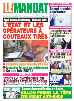 Couverture du Journal LE MANDAT N° 3115 du 04/05/2021