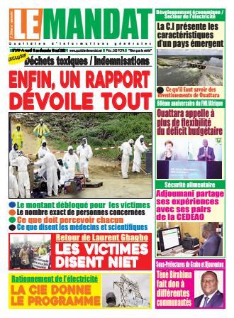 Couverture du Journal LE MANDAT N° 3120 du 11/05/2021