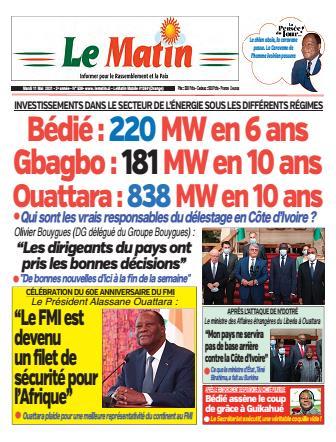 Couverture du Journal LE MATIN N° 538 du 11/05/2021