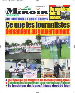 Couverture du Journal LE MIROIR D'ABIDJAN N° 178 du 04/05/2021