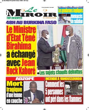 Couverture du Journal LE MIROIR D'ABIDJAN N° 183 du 11/05/2021
