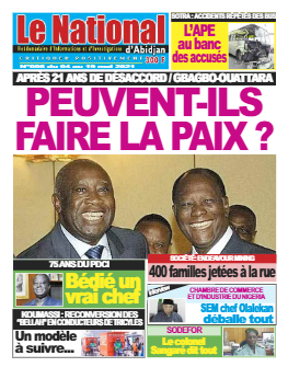Couverture du Journal Le Nationnal N° 6 du 04/05/2021