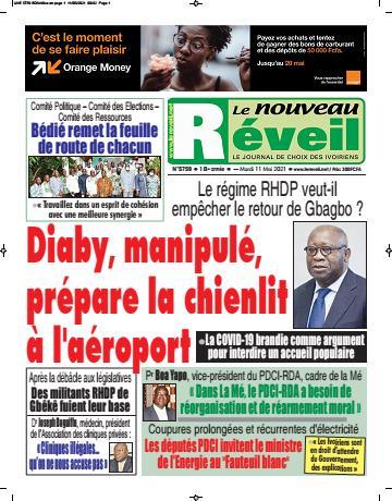 Couverture du Journal LE NOUVEAU RÉVEIL N° 5759 du 11/05/2021