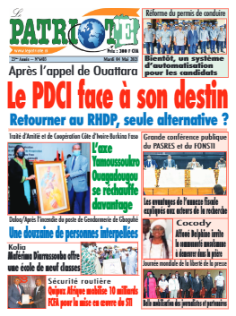 Couverture du Journal LE PATRIOTE N° 6403 du 04/05/2021
