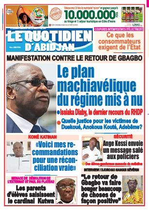 Couverture du Journal LE QUOTIDIEN D'ABIDJAN N° 3093 du 11/05/2021