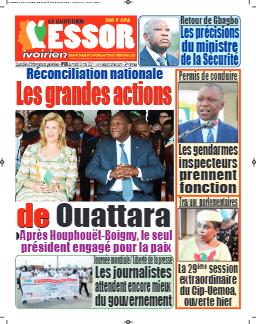 Couverture du Journal L'ESSOR IVOIRIEN N° 593 du 04/05/2021
