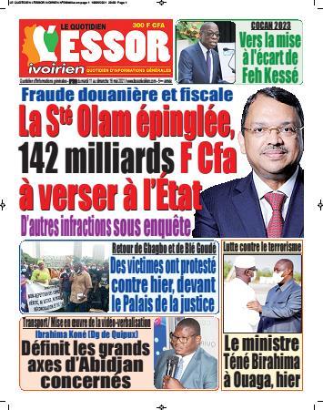 Couverture du Journal L'ESSOR IVOIRIEN N° 598 du 11/05/2021