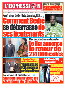 Couverture du Journal L'EXPRESSION N° 3305 du 04/05/2021