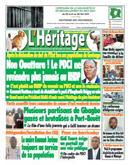 Couverture du Journal L'HÉRITAGE N° 420 du 04/05/2021