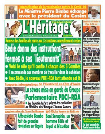 Couverture du Journal L'HÉRITAGE N° 425 du 11/05/2021